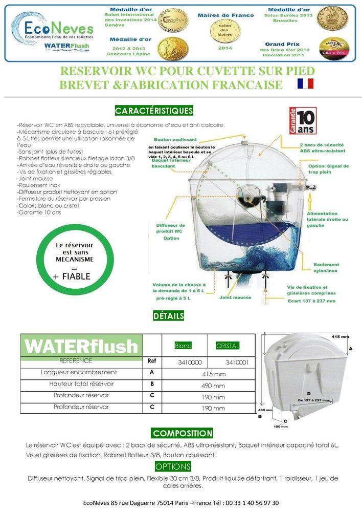 CHASSE EAU WATERFLUSH 40% ECONOMIE EAU 125 Anzin-Saint-Aubin (62)