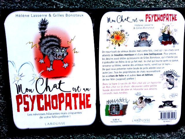 BD mon chat est un psychopathe 3 Paris 11 (75)