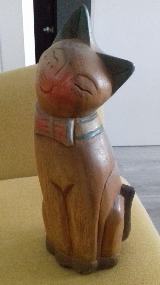 3 chats en bois pour collection 15 Compiègne (60)