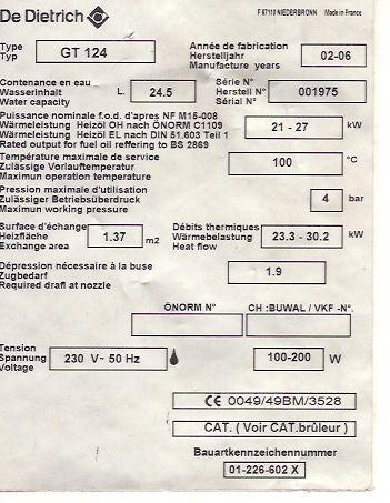 Chaudière avec brûleur GAZ  pour chauffage et eau sanitaire 1300 Roquebrune-Cap-Martin (06)