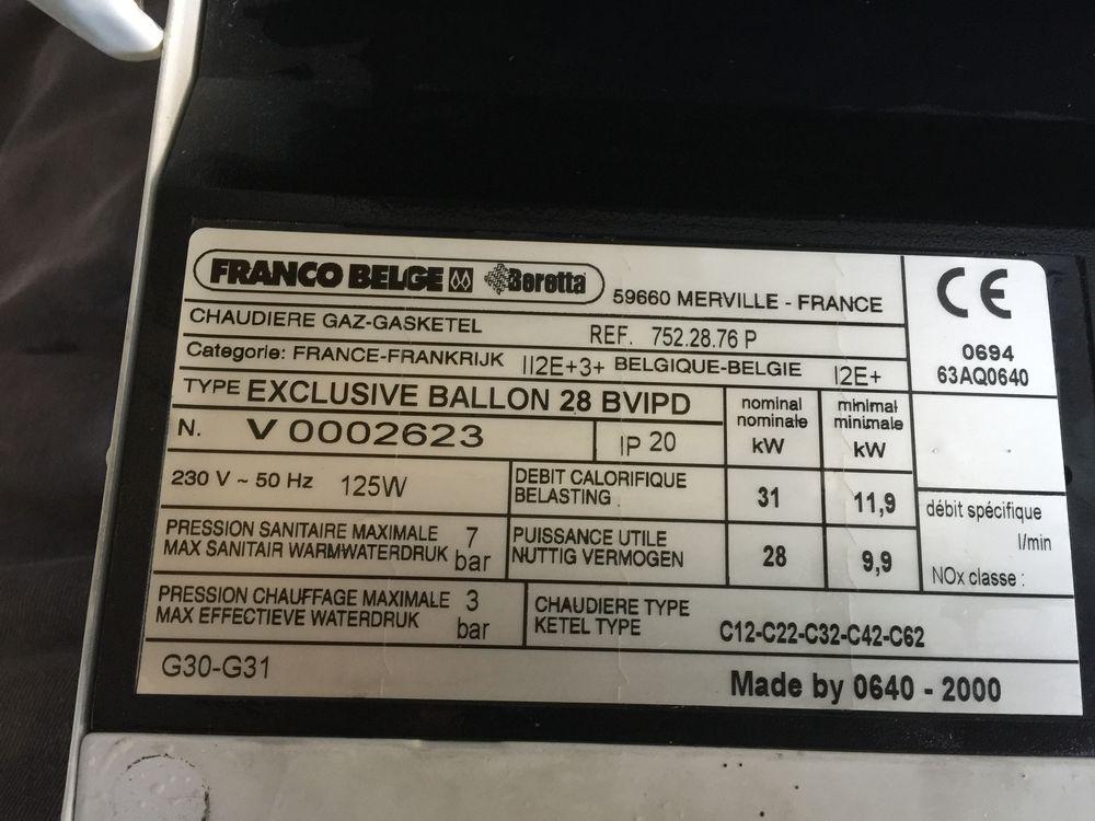 Chaudière à gaz  Franco Belge :Exclusive Ballon 28 BVIPD 0 Sospel (06)