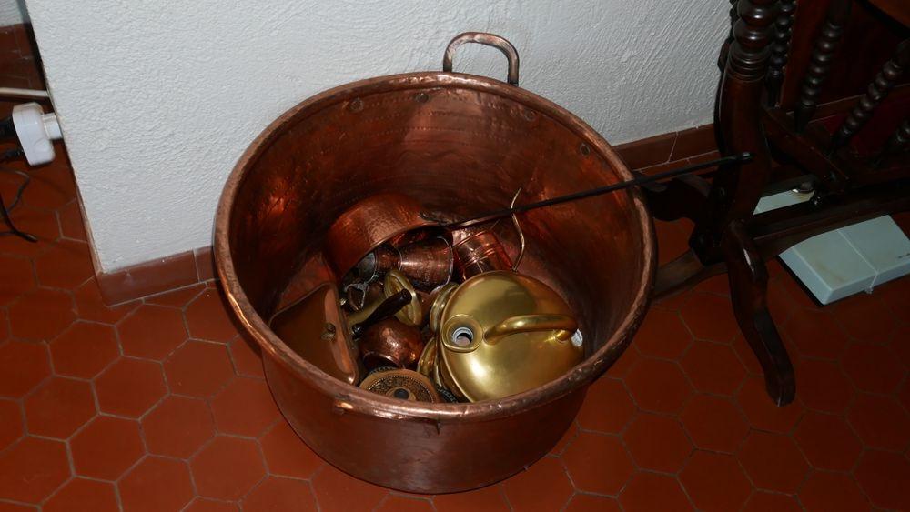 chaudron en cuivre Décoration