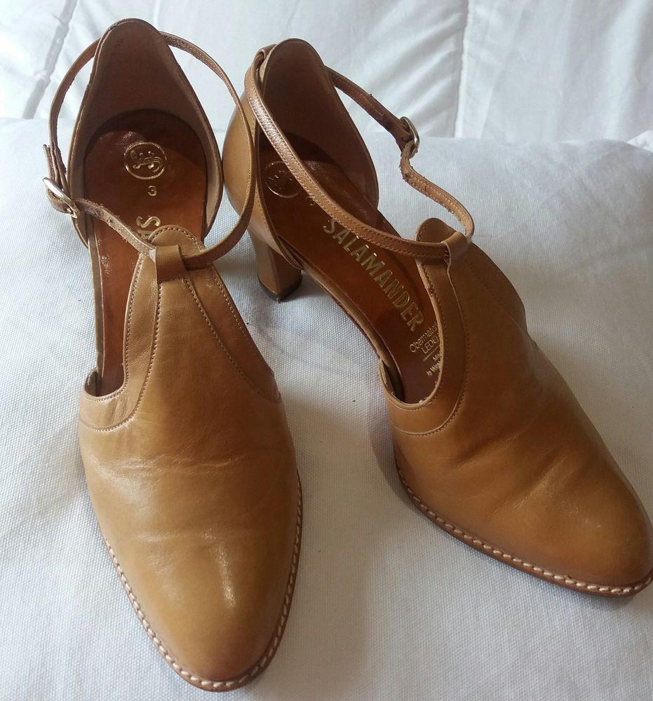 Chaussure cuir beige Salamander Chaussures