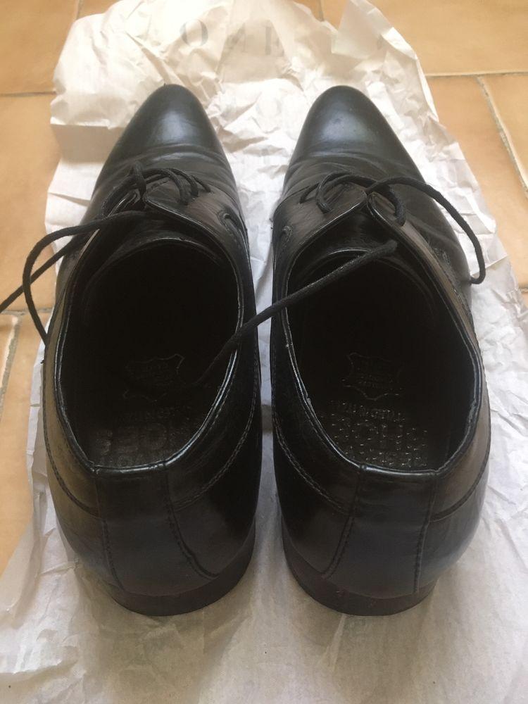Chaussure homme 42 cuir noir 10 Cuges-les-Pins (13)