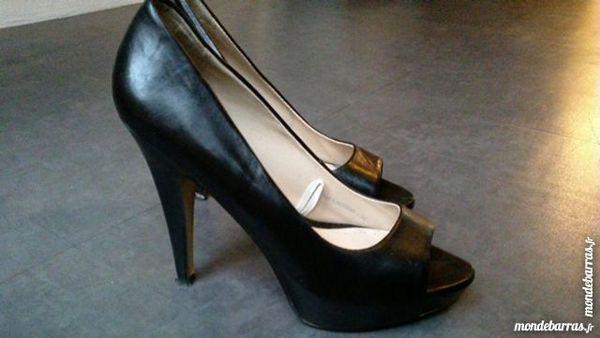 f239089d62fd Chaussure ouverte talon haut Mango Chaussures