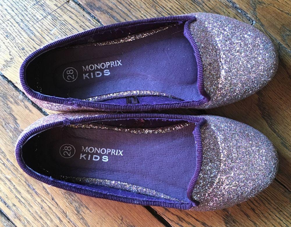 Chaussures ballerines enfant à paillettes Chaussures