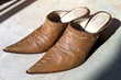 Chaussures cuir mules Santiags T. 39-40