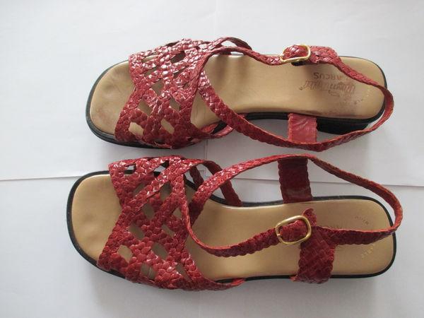 Chaussures d'été en cuir tressées rouges ARCUS 15 Lens (62)
