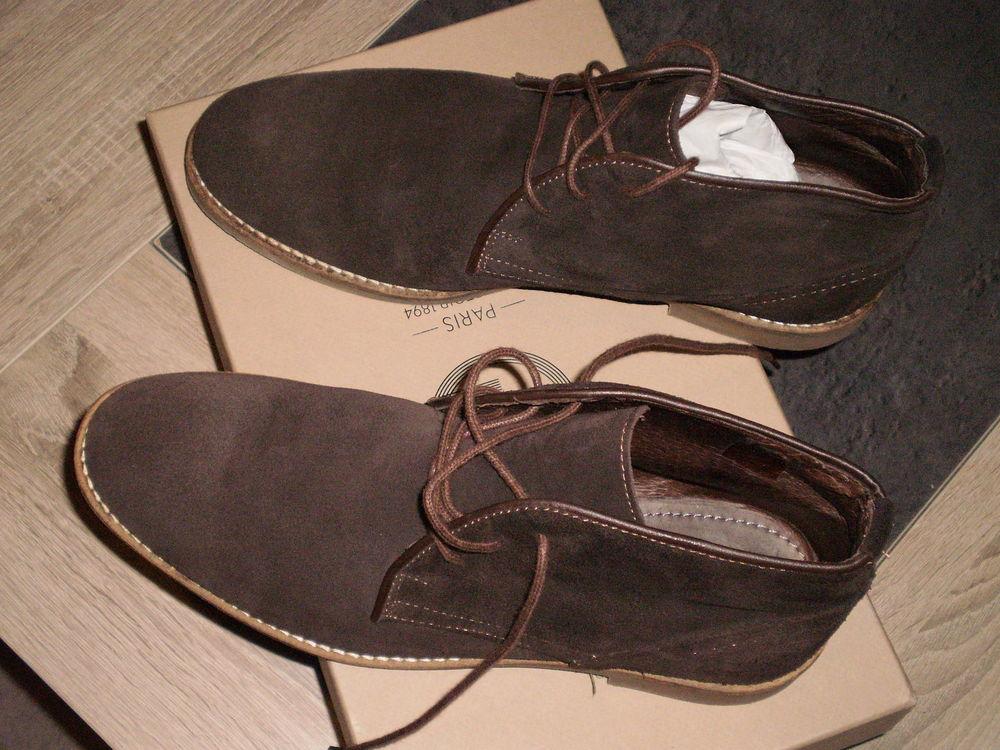 Chaussures en Daim marron taille 41 portées une  seul fois 45 Saint-Barthélemy-d'Anjou (49)