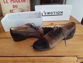 Chaussures Derby Bis by Perlato en cuir et daim marron  15 Aix-les-Bains (73)