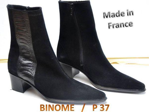 Chaussures FEMME - BOOTS en cuir & nubuck P: 37 Chaussures