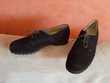 chaussures femme marque Hassia confort en cuir nubuck marron