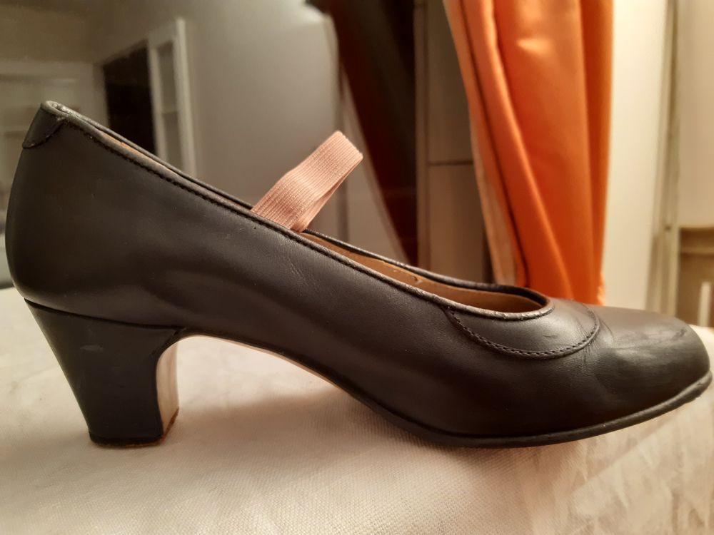 Chaussures de Flamenco noires 100% cuir t.37 20 Meudon (92)
