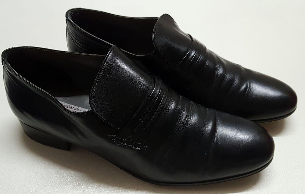 Chaussures homme cuir noir 50 Marignane (13)