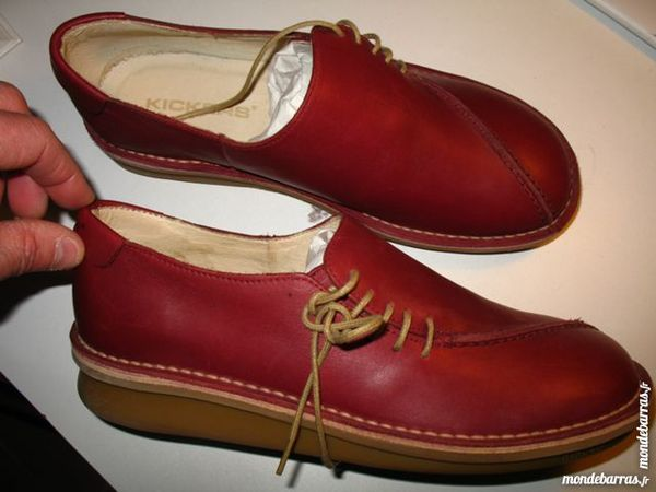 45bca32f489bf chaussures Kickers rouges Chaussures