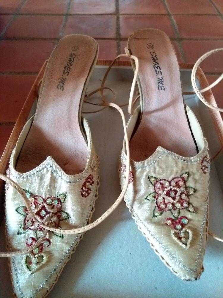 chaussures d'été à lacets cuir et soie 7 Aurec-sur-Loire (43)