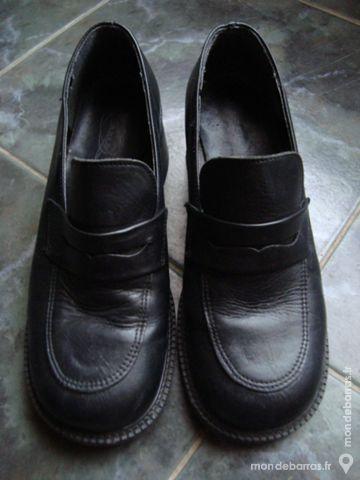Chaussures Noires Femme T.38 5 Léren (64)