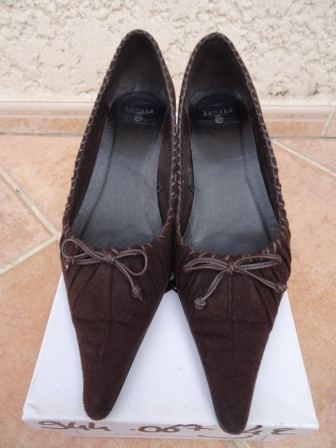 Chaussures pointues marrons nubuck Xanaka 10 Marseille 10 (13)