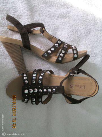 Chaussures sandales 39 marron chocolat 15 Alfortville (94)