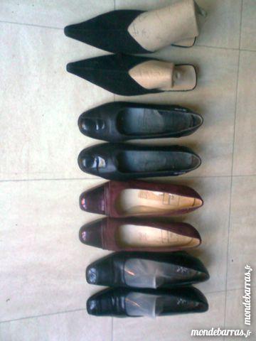 lot de 4 p. chaussures talons cuir - 38 - zoe 3 Martigues (13)