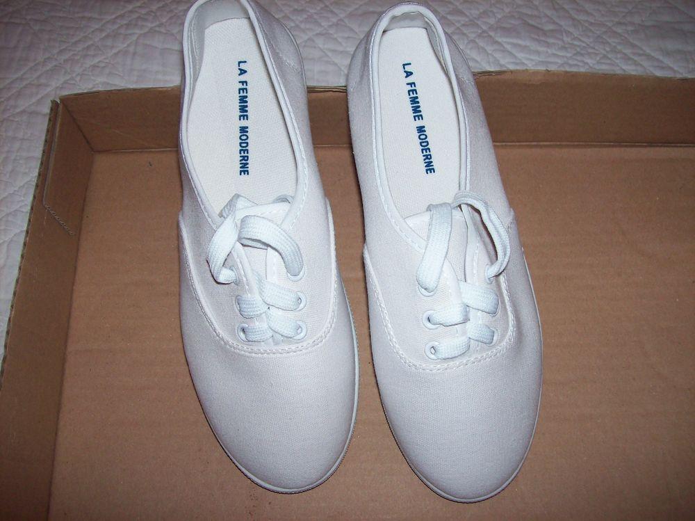 Chaussures de toile blanche LA FEMME MODERNE  38. 5 Saint-Jean-d'Illac (33)