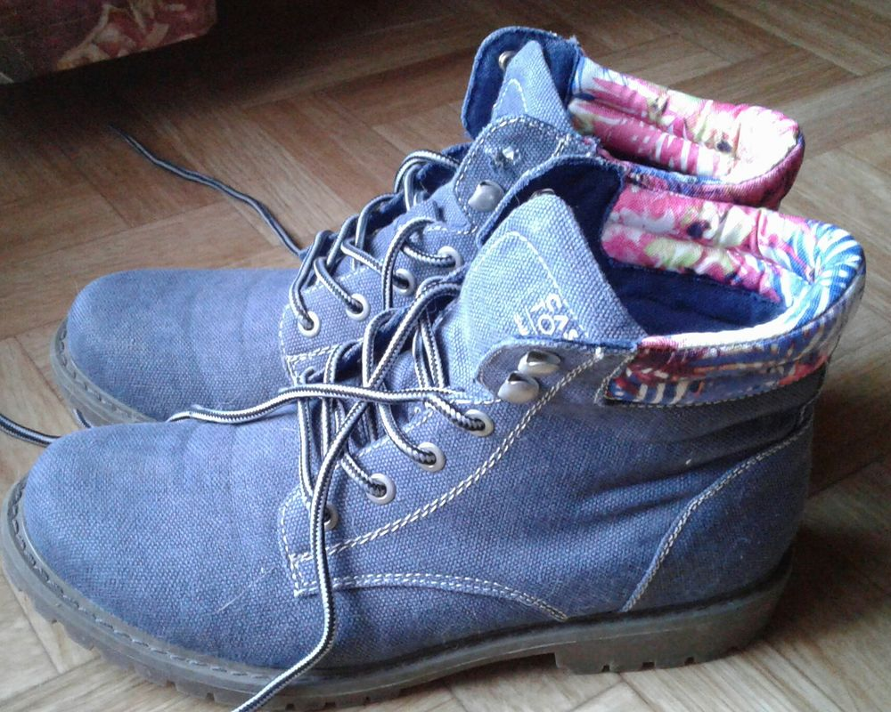 chaussures toile bleue 14 Cramont (80)