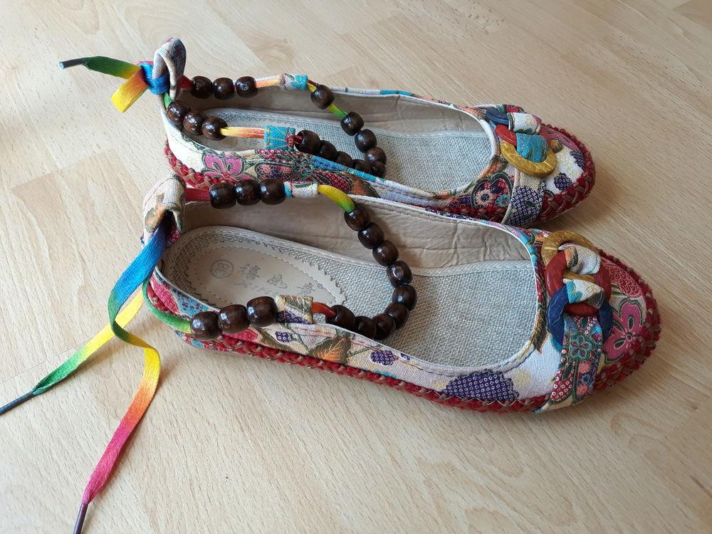 Chaussures en toile - multicolores - T 38 10 Livry-Gargan (93)