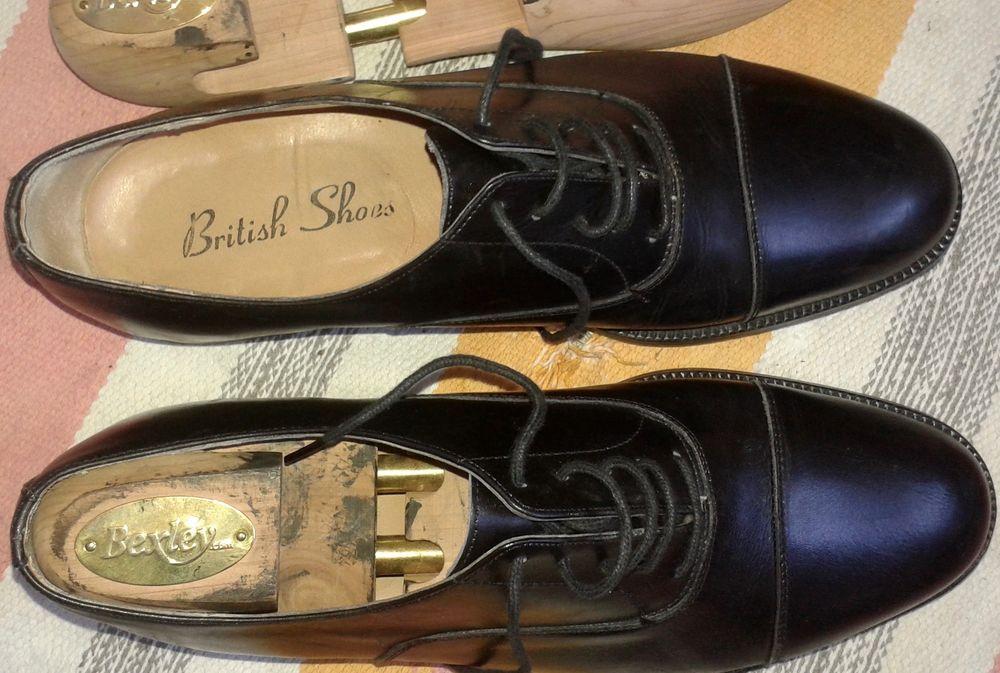 Chaussures tout cuir véritable - British shoes - H 43 90 Paris 19 (75)