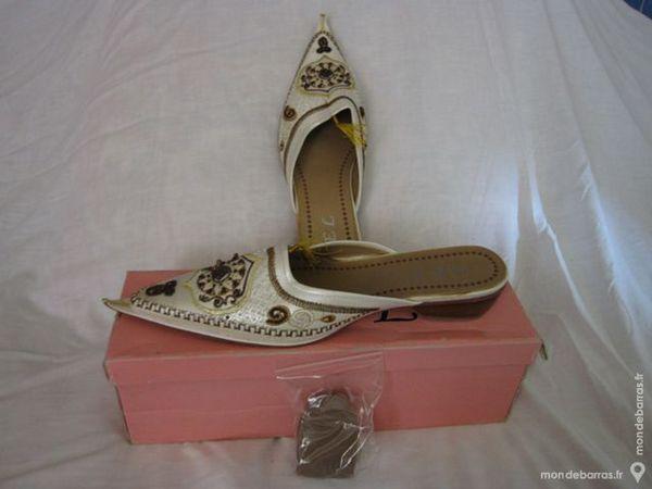 Chaussures Type Babouches Beige Femme Ponture 39 10 Chalon-sur-Saône (71)