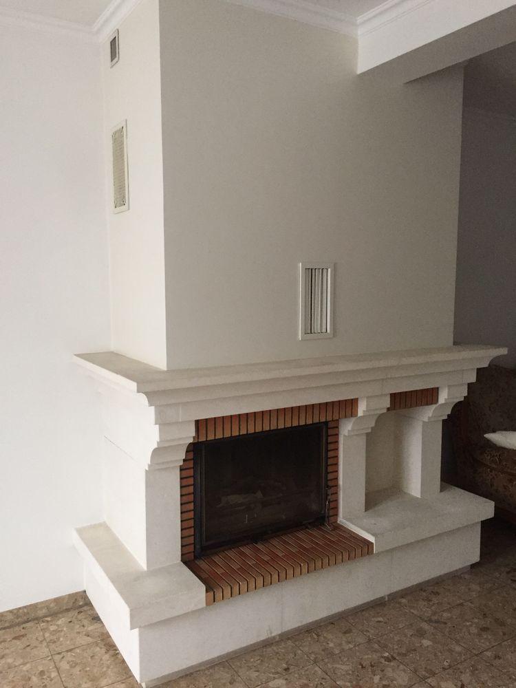 Cheminée en pierre de taille blanche avec foyer en fonte 300 Torcy (77)
