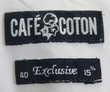 Chemise blanche popeline CAFE COTON Taille 40 Vêtements