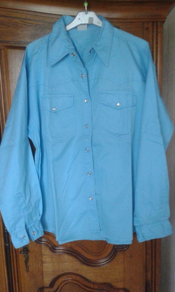 Chemise bleue turquoise 5 Cramont (80)