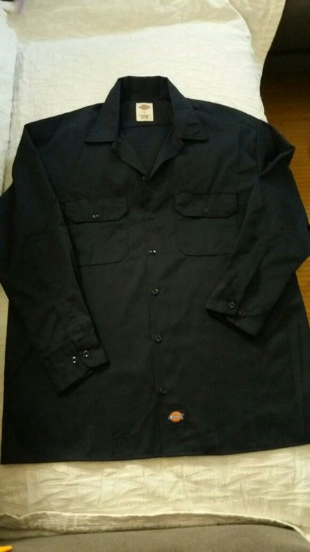 Chemise Dickies taille L bleu marine