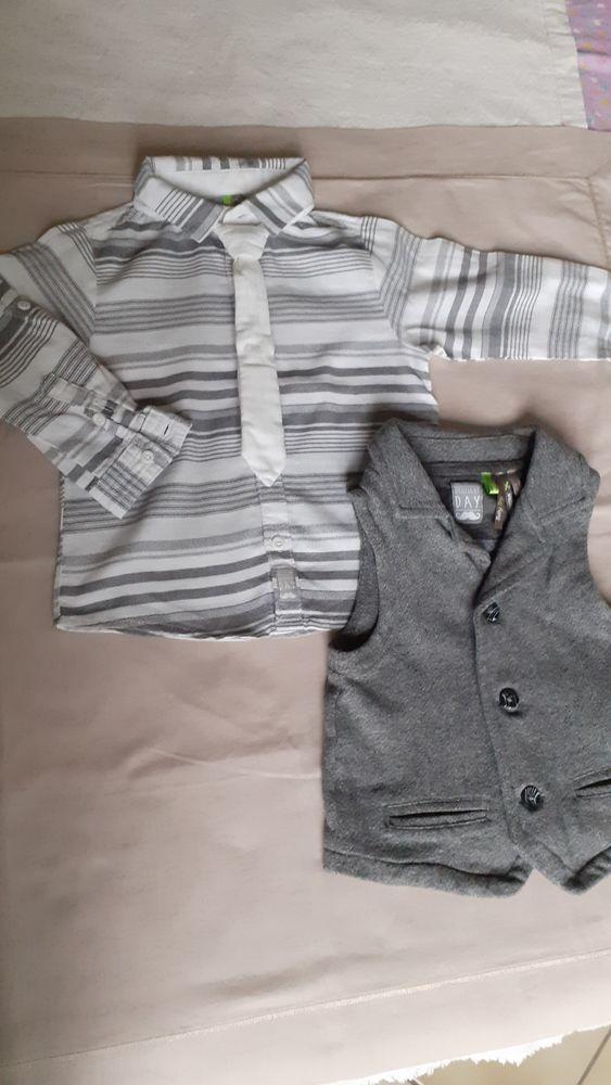 Chemise + gilet garçon 18 mois 5 Grisolles (82)