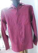 Chemise Homme bordeaux à rayures taille 39/40  Urban Kiabi 5 Montauban (82)