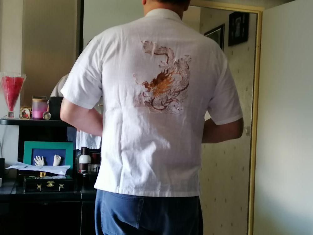Chemise Homme Dragon brodé 10 Cognin (73)