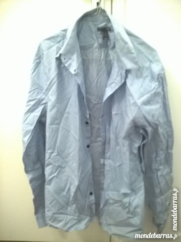 chemise homme rayures verticales T.L 5 Laon (02)