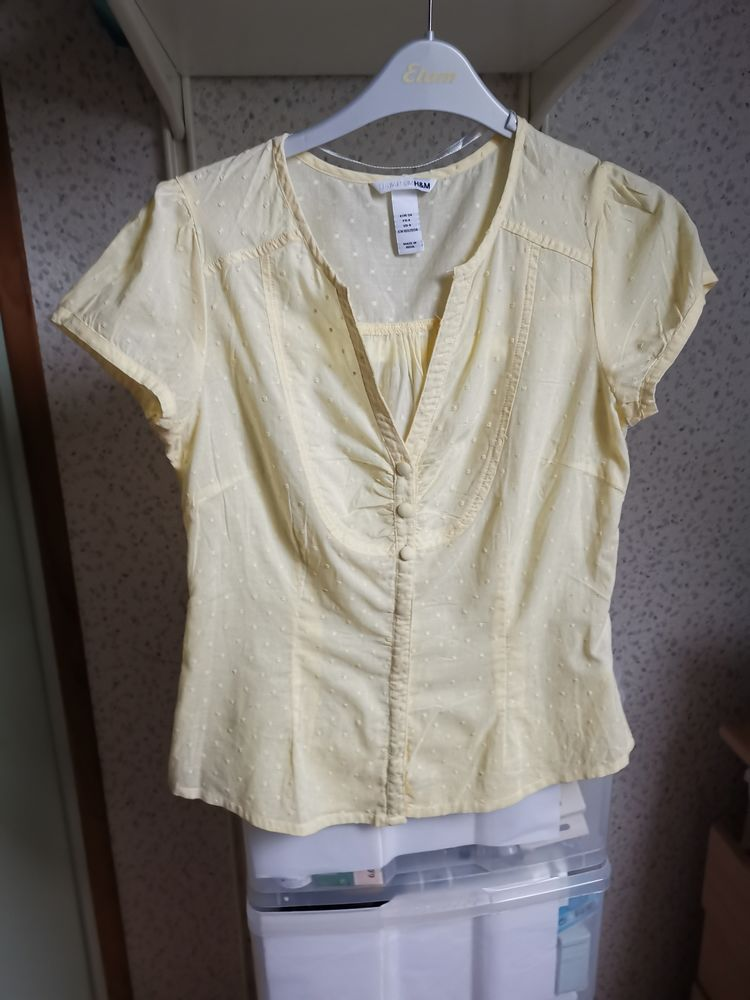 Chemise jaune clair H 12 Villemomble (93)