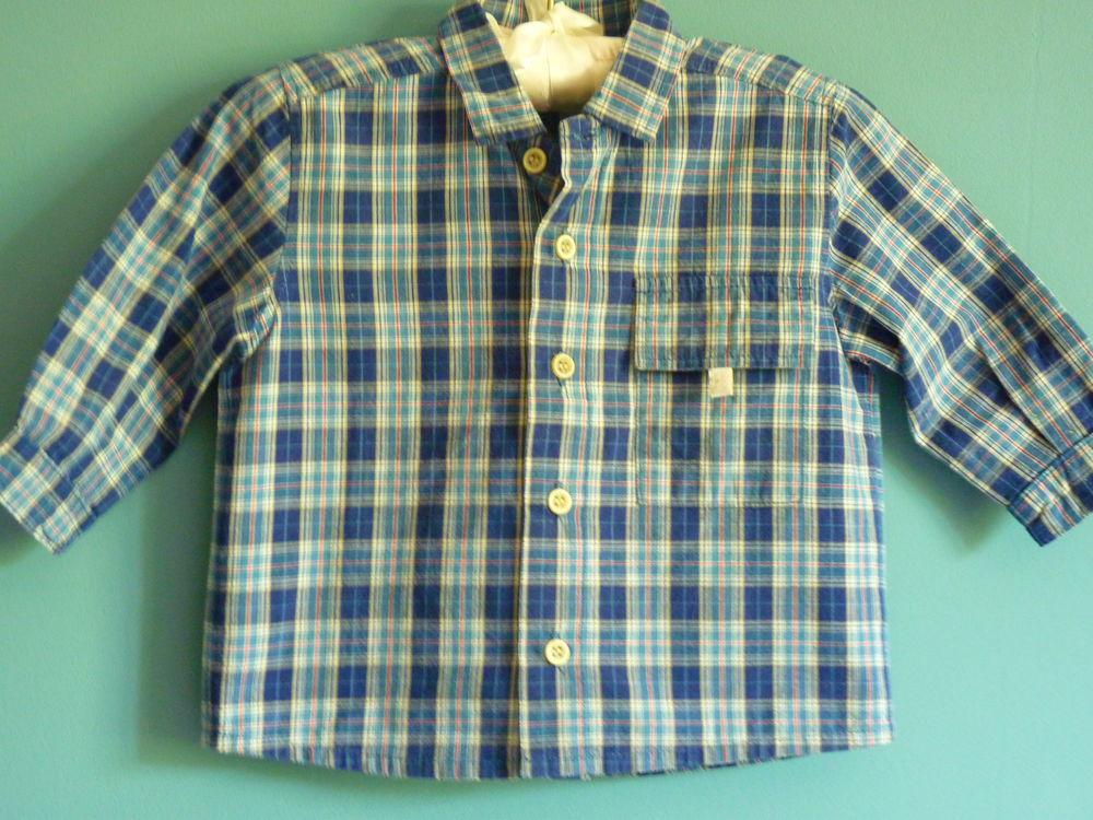 Chemise Lapin Bleu carreaux garçon 2 ans tbe 5 Brienne-le-Château (10)