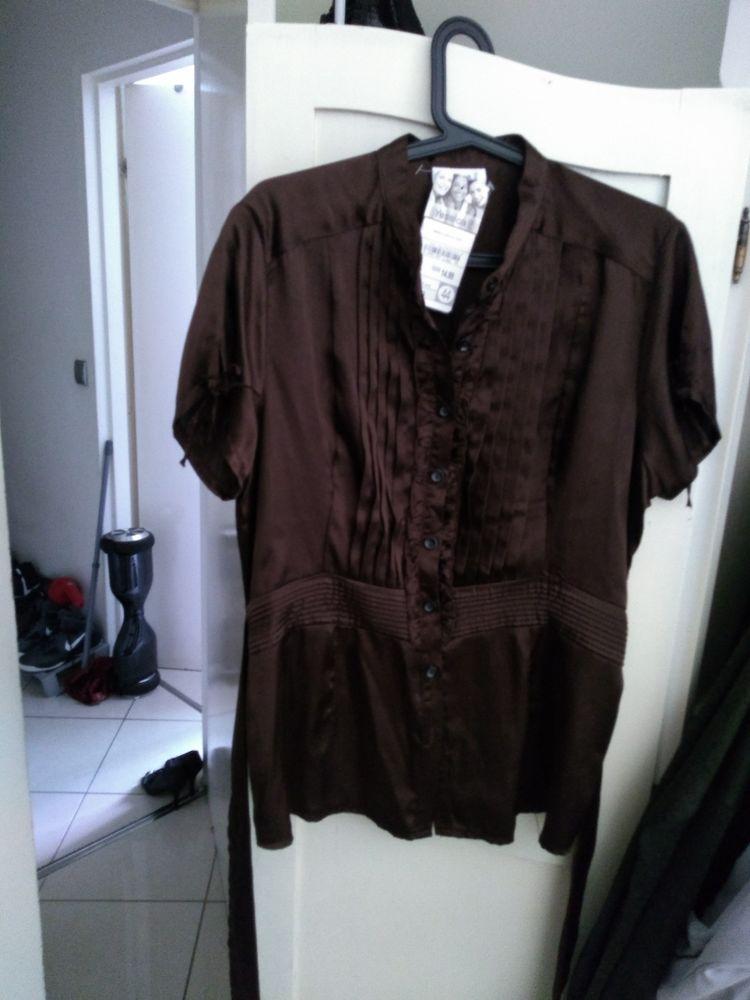 chemise a manches courtes satiné femme neuve  couleur marron taille 42 10 Saint-Denis (97)