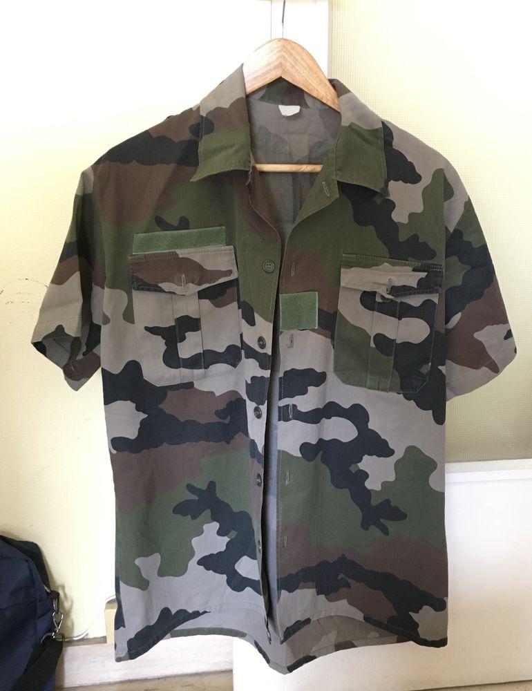 Chemise militaire camouflage-anti moustique 15 Nice (06)