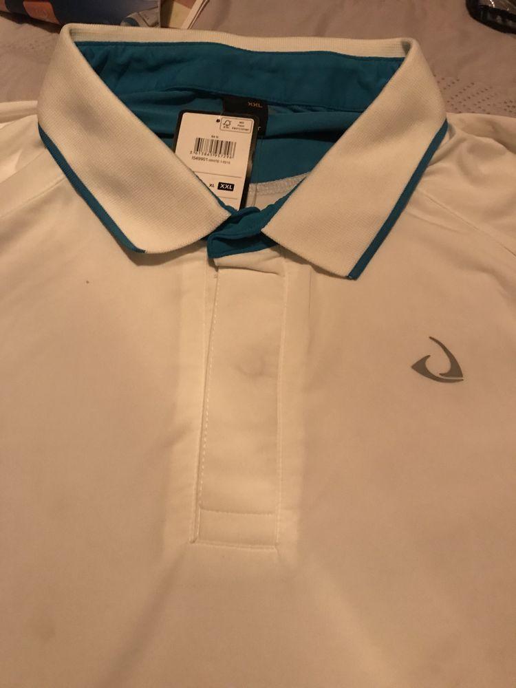 chemise polo BLANCHE/TURQUOISE  T. XXL 14 Saint-Genis-Laval (69)