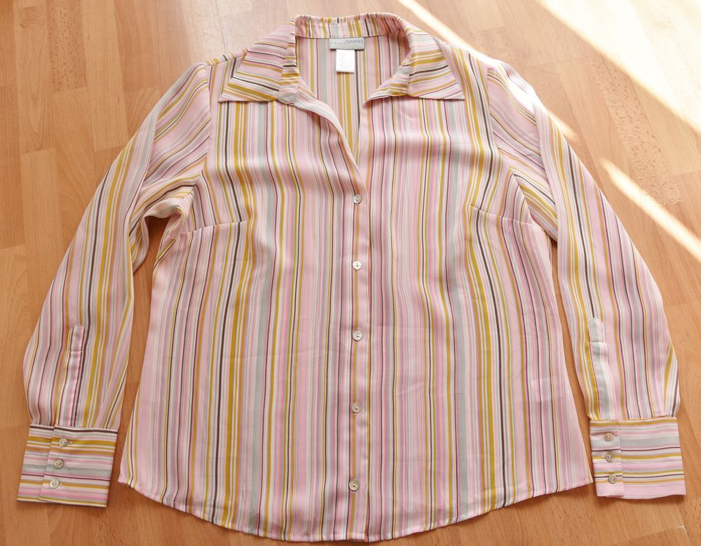 Chemise rayures multicolores. T44. Laura Clément. Tbe 10 Gujan-Mestras (33)