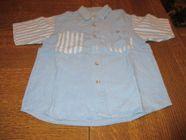 Chemisette en jeans bleu et raye blanc 0 Mérignies (59)