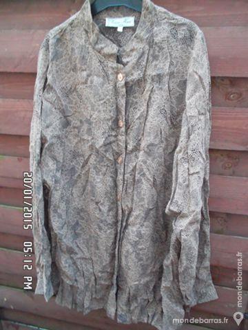 chemisier marron et noir t.50 kiki60230 3 Chambly (60)
