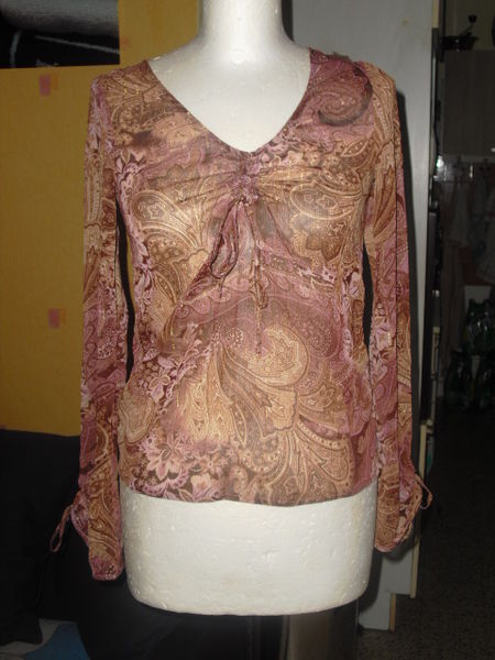 chemisier tissus a motifs et transparent taille S 5 Lyon 5 (69)