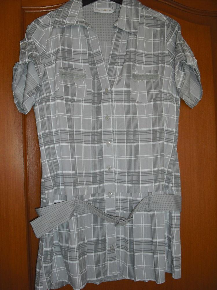 Chemisier tunique gris à carreaux 4 Cramont (80)