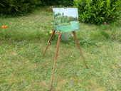 Chevalet de peintre pliant en bois 22 Soissons (02)