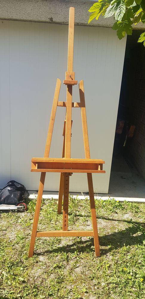 Chevalet trépied en bois de hêtre  pour peinture tableau 70 Versailles (78)