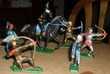 6 CHEVALIERS dont un à cheval Starlux